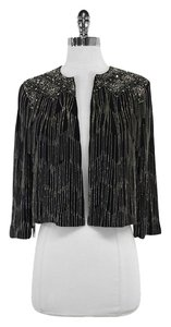 French Connection Black Open Embellished Jacket