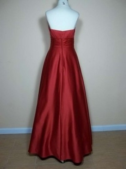 Alfred Angelo Cherry Satin 7166 Formal Bridesmaid/Mob Dress Size 8 (M)