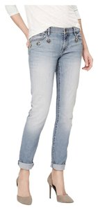 Ann Taylor LOFT Jeweled Baggy Relaxed Fit Jeans-Light Wash