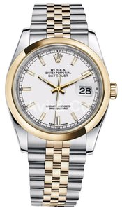 Rolex Rolex Datejust 36 Steel & Yellow Gold Jubilee Bracelet White Dial