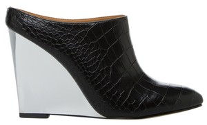 BEAU+ASHE Metallic Alligator BEAU ASHE Black/Metallic Silver Wedges