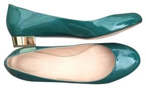 J.Crew Patent Leather Janey Dusty Jade (Green) Flats