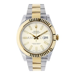 Rolex Rolex Datejust II Steel & Yellow Gold Watch White Dial 116333