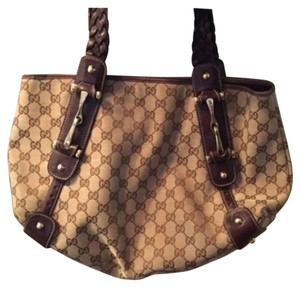 Gucci Monogram Leather Lambskin Shoulder Bag