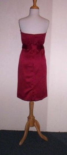 Alfred Angelo Claret Satin 7171 Formal Bridesmaid/Mob Dress Size 14 (L)