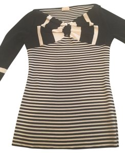 Valentino Top Black and white stripes