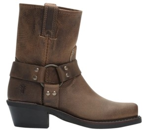Frye Harness Boot Suede Brown / Tan Boots