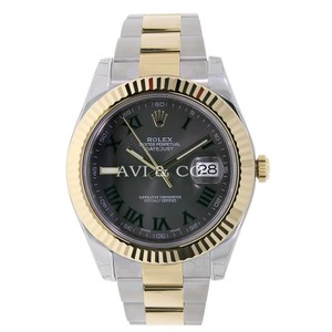 Rolex Rolex Datejust II Steel & Yellow Gold Watch Black Roman Dial 116333