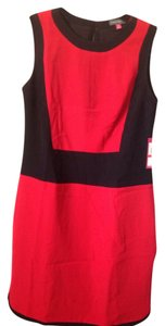 Vince Camuto Radiant Red Black Upscale Dress