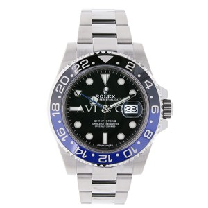Rolex Rolex GMT-Master II Steel Watch Black & Blue Ceramic Bezel 116710BLNR