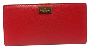 Kate Spade NWT Kate Spade Highland Place Stacy Wallet Deep Blaze Red