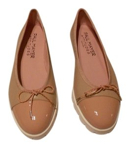 Paul Mayer Bravo Cap Toe Design Padded Footbed Comfortable Made In Spain Taupe/Rose Flats