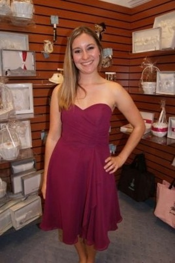 Alfred Angelo Berry Chiffon 7176 Formal Bridesmaid/Mob Dress Size 14 (L)