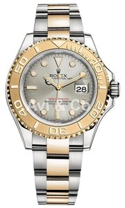 Rolex Rolex Yacht-Master 40 Steel & Yellow Gold Watch Silver Dial 16623