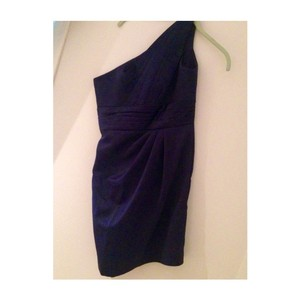 David's Bridal Blue Bridesmaid/Mob Dress Size 2 (XS)