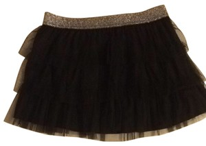 Danskin Skirt Black With Sparkle Silver Waist