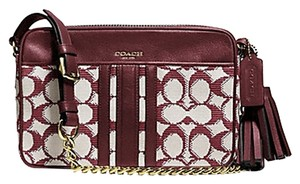 Coach Legacy F25376 25376 Signature Flight Cross Body Bag