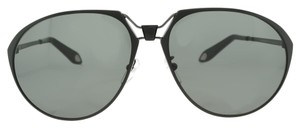 Givenchy Matte Black Aviator Sunglasses