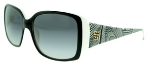 Givenchy Givenchy SGV718 0943 Black and White Square Plastic Sunglasses (10342)
