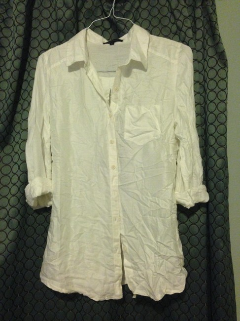 Urban Outfitters Drapey Flowy Layers Layering Button Down Shirt White