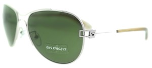 Givenchy Givenchy SGVA50 0579 Silver Metal Aviator Unisex Sunglasses (10364)