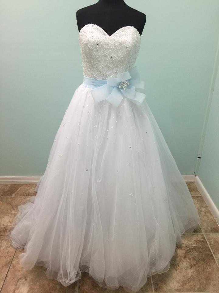 Alfred Angelo White and Glass Slipper Tulle Disney Gown 241 Formal ...