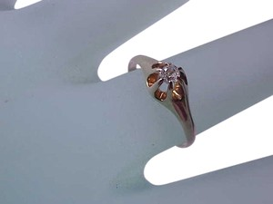 Other Victorian 14K Yellow Gold .15ct Old European Cut Diamond Engagment Ring , 1800s