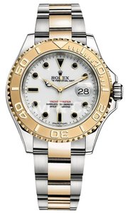 Rolex Rolex Yacht-Master 40 Steel & Yellow Gold Watch White Dial 16623