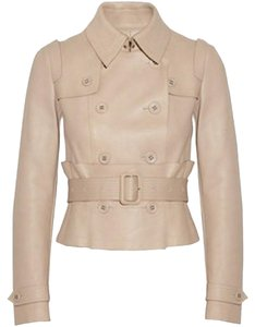 Burberry Lambskin Nude Moto Leather Fall Beige Nude Leather Jacket