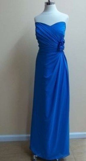 Alfred Angelo Marine Blue Chiffon 7180 Formal Bridesmaid/Mob Dress Size 20 (Plus 1x)
