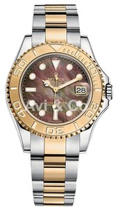 Rolex Rolex Yacht-Master 35 Steel & Yellow Gold Watch Mother of Pearl Dial 168623