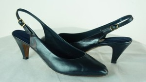 Other Natural Sport Aa Paula Slingback Heels Navy Blue Pumps
