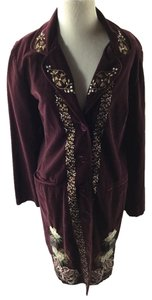 Johnny Was Velvet Embroidered Coat