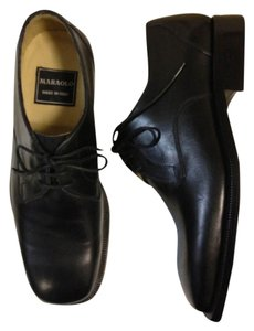 Maraolo men shoes Maraolo mens black leather dress shoes- size 5