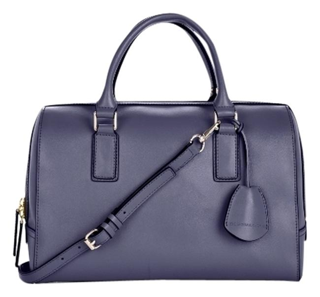 BCBGMAXAZRIA Edie Day Bowler Purple Leather Satchel BCBGMAXAZRIA Edie Day Bowler Purple Leather Satchel Image 1