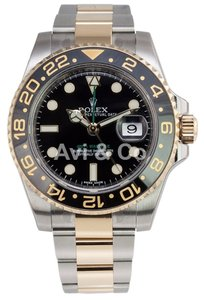 Rolex Rolex GMT-Master II Stainless Steel & 18K Yellow Gold Watch 116713LN
