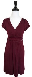 Juicy Couture short dress Burgundy Petite Wine on Tradesy