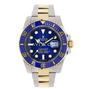 Rolex Rolex Submariner Steel Yellow Gold Watch Blue Ceramic Bezel 116613