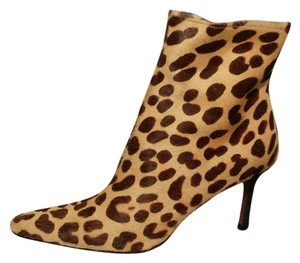Christian Dior Tan and dark brown animal print ankle Boots