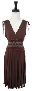BCBGMAXAZRIA short dress Brown Multicolored Bcbg Max Azria Sleeveless on Tradesy