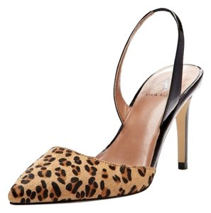 Ava & Aiden Slingback High Heel Pointed Toe Leopard Print Pumps