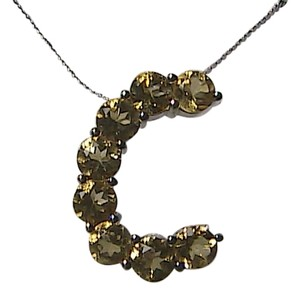 Unknown Italy Sterling Silver 2.0 cts Citrine Initial