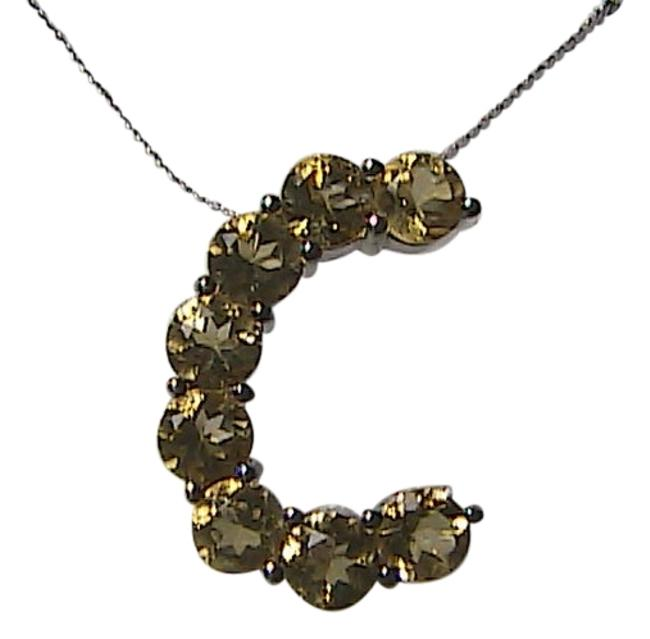 "Sterling Silver & Citrine Italy 2.0 Initial "" C Necklace Sterling Silver & Citrine Italy 2.0 Initial "" C Necklace Image 1"