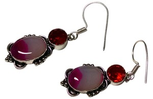 New Agate Gemstone Earrings Set 925 Sterling Silver J460