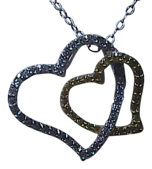 Preload https://item5.tradesy.com/images/silver-and-gold-color-double-heart-sterling-necklace-1475214-0-0.jpg?width=440&height=440
