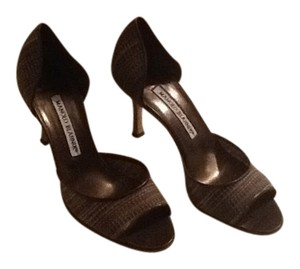 Manolo Blahnik Brown Tweed Pumps