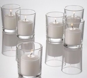 Pier 1 Imports Clear Glass 48 Basic Votive Candle Holders