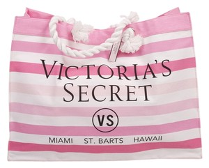 Victoria's Secret Beach Swim Tote Weekender Travel Pink Beach Bag