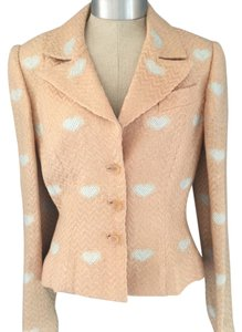 Peggy Jennings Peach with Light Blue Hearts Blazer