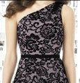 Dessy Suede Rose / Black 8141 Mid-length Night Out Dress Size 6 (S) Dessy Suede Rose / Black 8141 Mid-length Night Out Dress Size 6 (S) Image 3